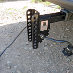 Intelli-Hitch adjustable receiver hitch with built in trailer brake controller